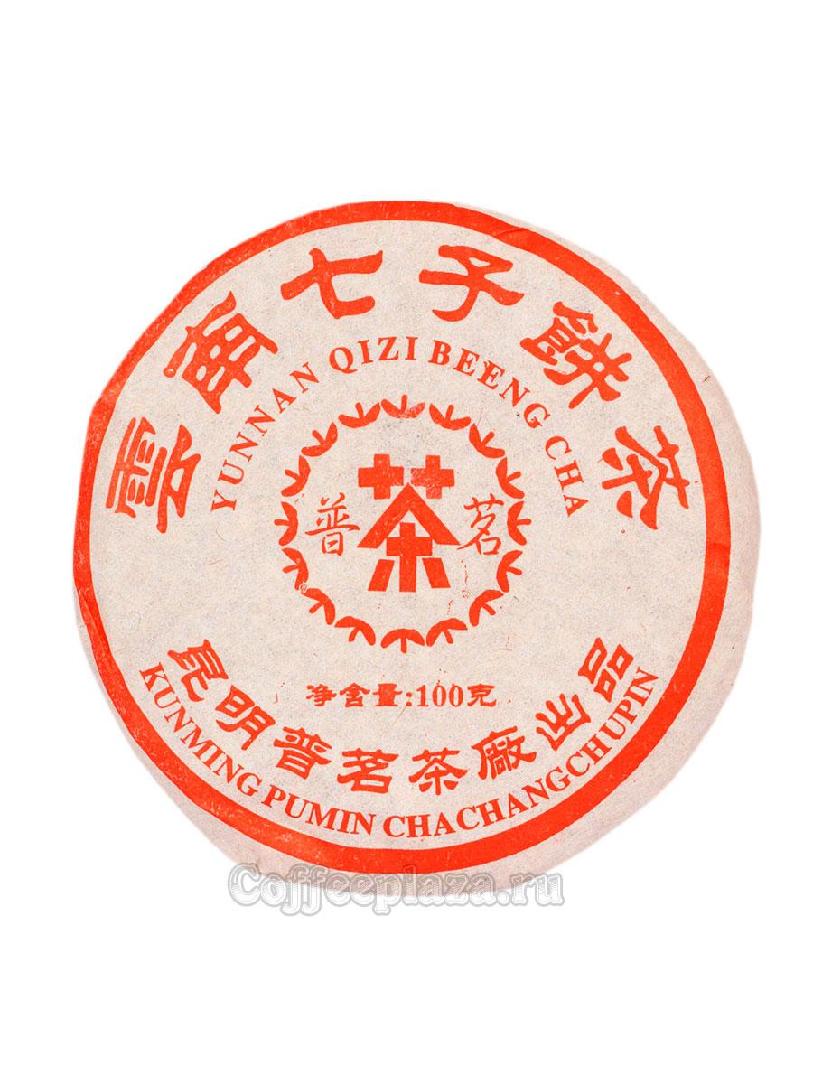 Чай Пуэр плитка Знание 100г шу