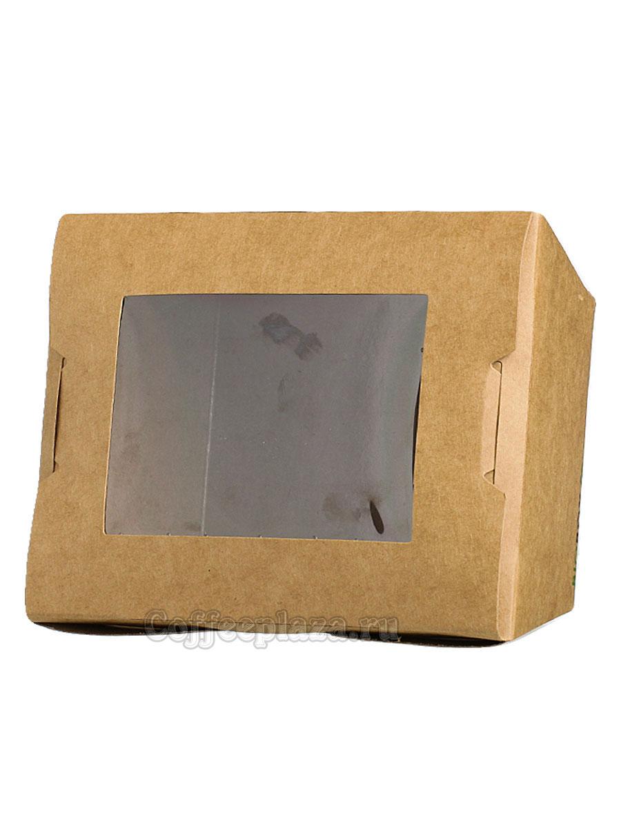 Ланч бокс прямоугольным дном с окном 1400 мл