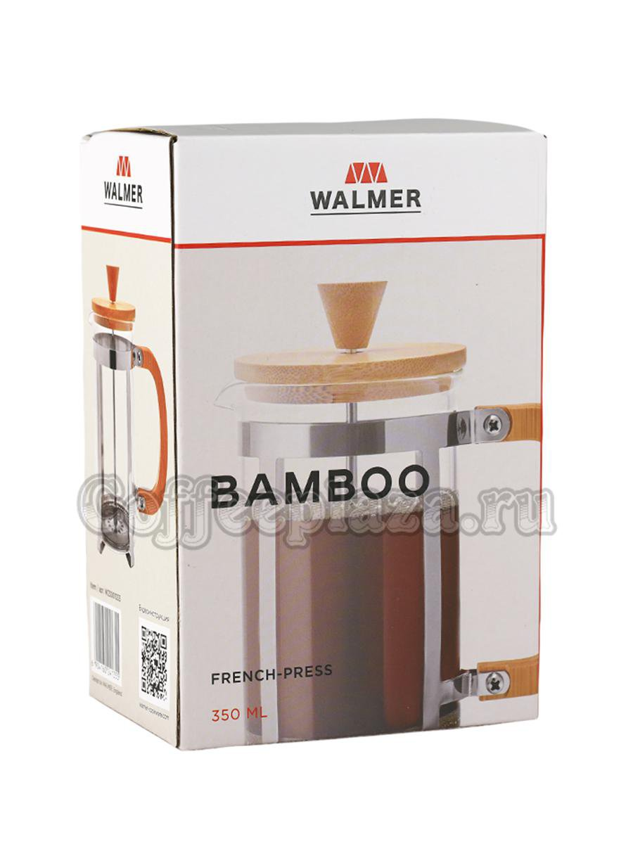 Френч-пресс Walmer Bamboo 350 мл (W23001035)