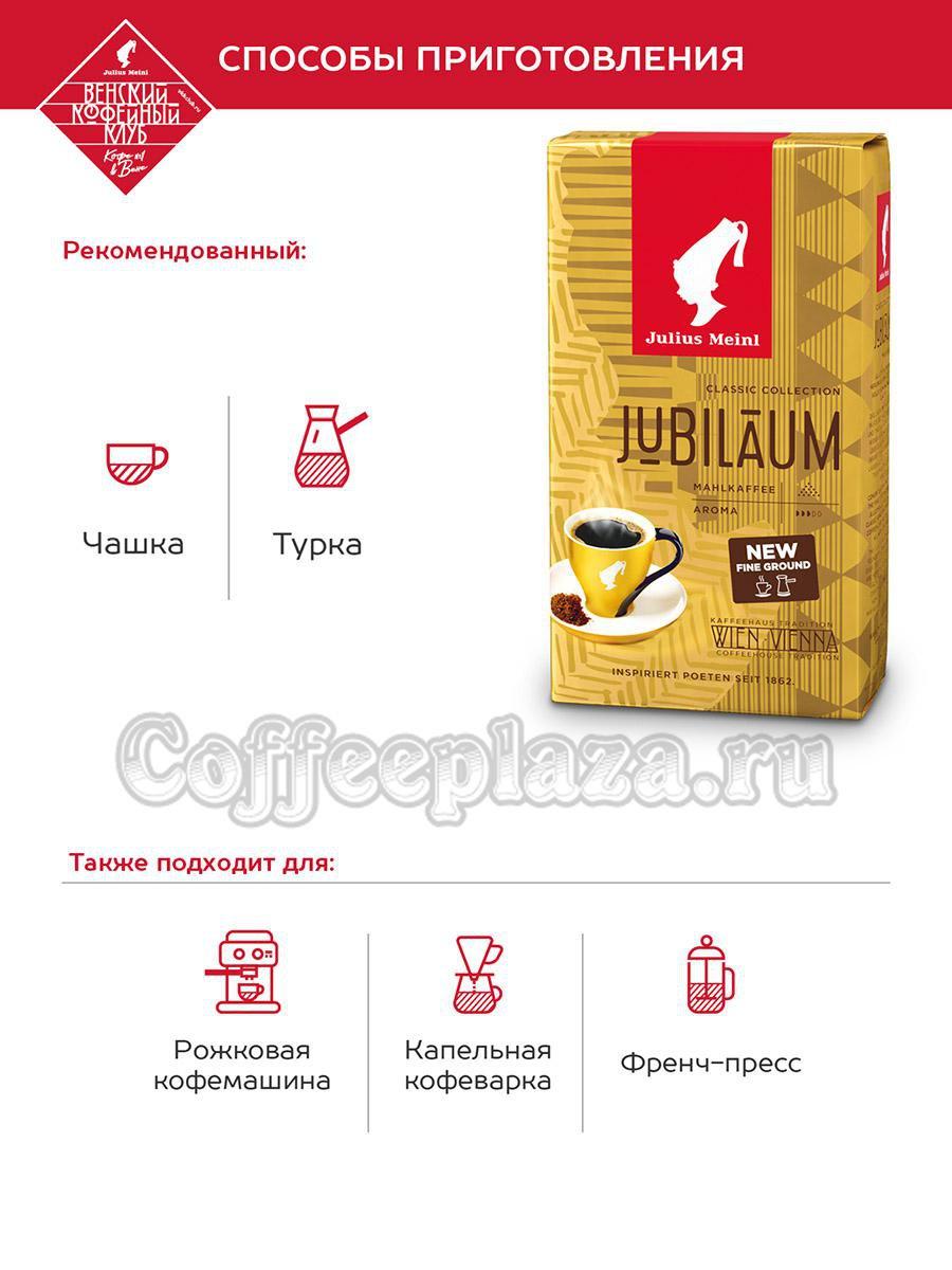 Кофе Julius Meinl молотый Jubileum