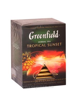 Чай Greenfield Tropical Sunset Пирамидки
