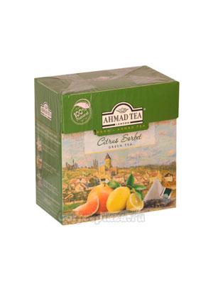 Чай Ahmad Tea в пирамидках Citrus Sorbet. Ахмад Цитрусовый сорбет