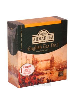 Чай Ahmad Пакет Английский №1. Черный, 2гр*100 шт