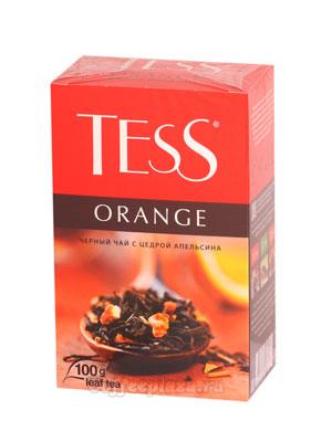 Чай Tess черный Orange (Цедра и апельсин) 100 гр