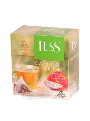 Чай Tess зеленый Daiquiri Breeze (Имбирь и фрукты дракона) пирамидки 20 пак.