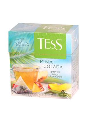 Чай Tess зеленый Pina Colada (Манго и ананас) пирамидки 20 пак.