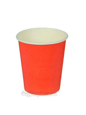 Стакан бумажный однослойный 300 мл красный
