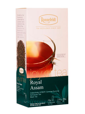 Чай Ronnefeldt Joy of tea Royal Assam/Роял Ассам в пакетиках 15 шт.х 2,6 гр