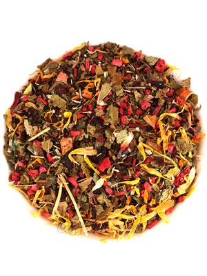Малина с мятой (травяной чай)