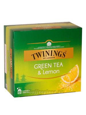 Чай Twinings зеленый  с лимоном (50 пакетиков)