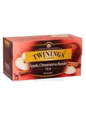 Чай Twinings Черный Яблоко, Корица и Изюм (25 пакетиков)
