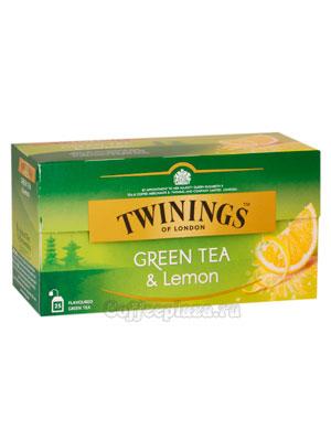 Чай Twinings зеленый  с лимоном (25 пакетиков)