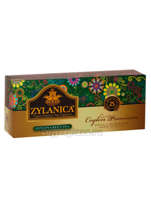 Чай Zylanica Ceylon Premium Green Tea 25 пакетиков