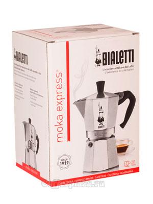 Гейзерная кофеварка Bialetti Moka Express 4 порции 160 мл