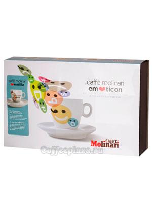 Подарочный набор Molinari Emoticon (чашки и блюдце) капучино