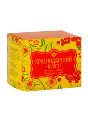 Чай Краснодарский букет черный с календулой и мятой 50 гр