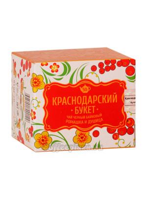 Чай Краснодарский букет Черный байховый с ромашкой и душицей 50 гр