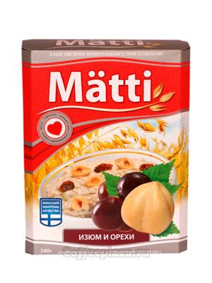 Matti Каша овсяная с изюмом и орехами