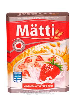 Овсяная каша Matti клубника со сливками