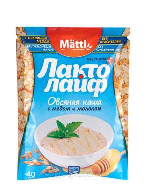 Matti Лакто Лайф Каша овсяная мед и молоко