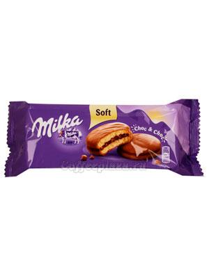 Бисквитное печенье Milka Choc chok 150 гр
