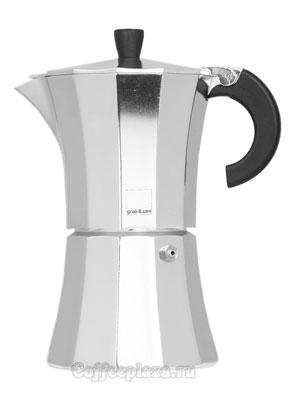 Гейзерная кофеварка Morosina (алюминиевая) 6 порций