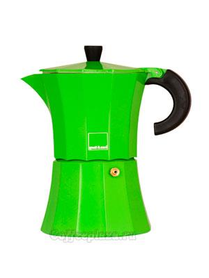 Гейзерная кофеварка Morosina (зеленая) 3 порции