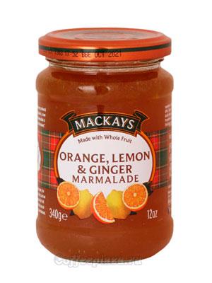 Джем Mackays Лимон, апельсин и имбирь 340 гр