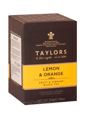 Чай пакетированный Taylors Lemon Orange / С ароматом лимона и апельсина 20 шт
