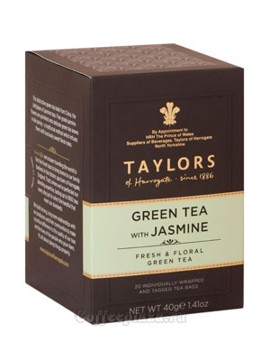 Чай пакетированный Taylors Green Jasmine / Зеленый чай с цветками жасмина 20 шт