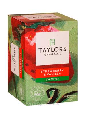 Чай пакетированный Taylors Strawberry Vanilla / С клубникой и ванилью 20 шт
