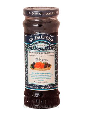 Джем St.Dalfour Ассорти из четырех ягод 284 гр