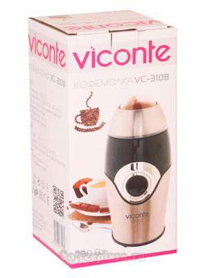 Кофемолка Viconte VC-3108 (коричневая)