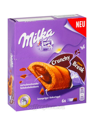 Бисквит Milka Crunchy Break choko 156 гр