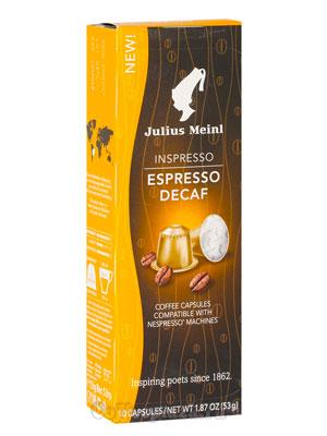 Julius Meinl Nespresso Espresso Decaf 10 капсул х 5,3 гр