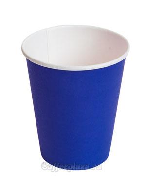 Стакан бумажный однослойный 250 мл синий