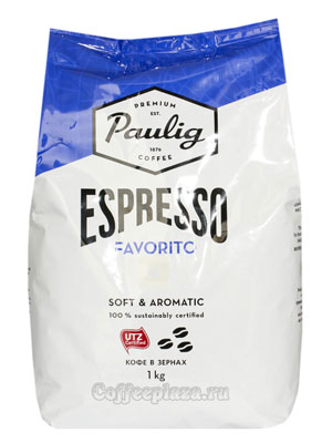 Кофе Paulig в зёрнах Espresso Favorito 1кг