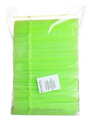 Трубочки со сгибом неоновые L=21см [1000шт]; D=5,H=480,L=290,B=70мм; зеленый