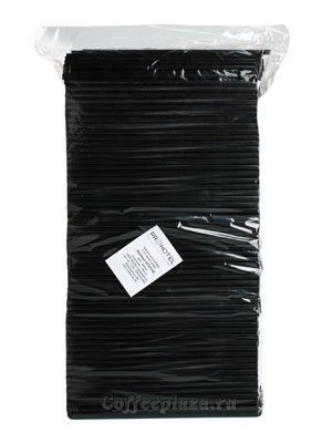 Трубочки б/изгиба L=21см [1000шт]; пластик; D=0.7,L=21см; черный