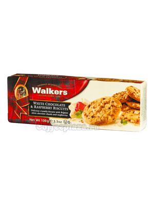 Бисквитное печенье Walkers белый шоколад и малина 150 гр