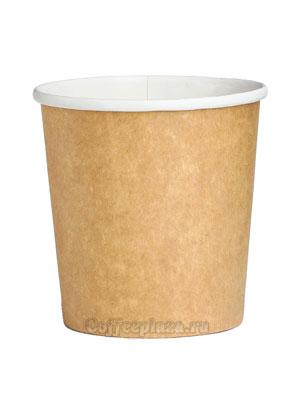 Бумажный контейнер с круглам дном 500 мл Крафт