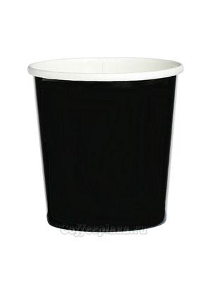 Бумажный контейнер с круглам дном 300 мл черный