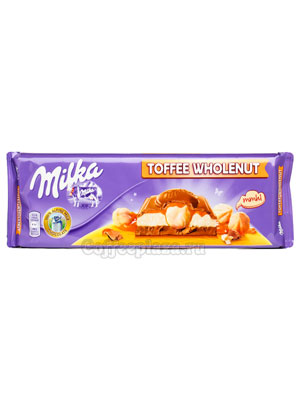 Шоколад Milka Toffee Wholenuts 300 гр