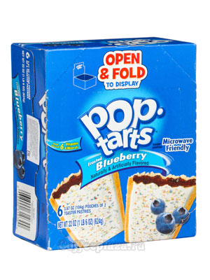 Бисквит Pop-Tarts Blueberry Печенье 624 гр