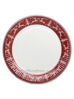 Бумажные тарелки 230 мм Зимние узоры, WB-ламин 100 шт