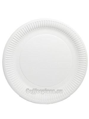 Бумажные тарелки 230 мм Без дизайна, мелованная 100 шт