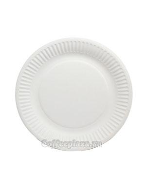 Бумажные тарелки 150 мм Кругл, рифл, мелованная 100 шт