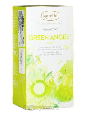 Чай Ronnefeldt Green Angel BIO/Зеленый Ангел в индивидуальной упаковке  25шт х 1,5гр
