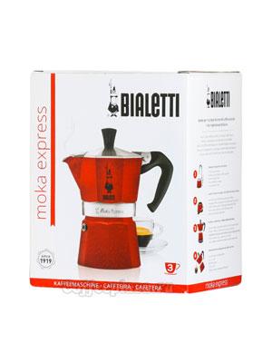Гейзерная кофеварка Bialetti Moka Express Moka Red Emotion 3 порции 120 мл 5292