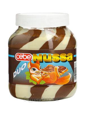 Шоколадная паста Cebe Nussa DUO 750 гр